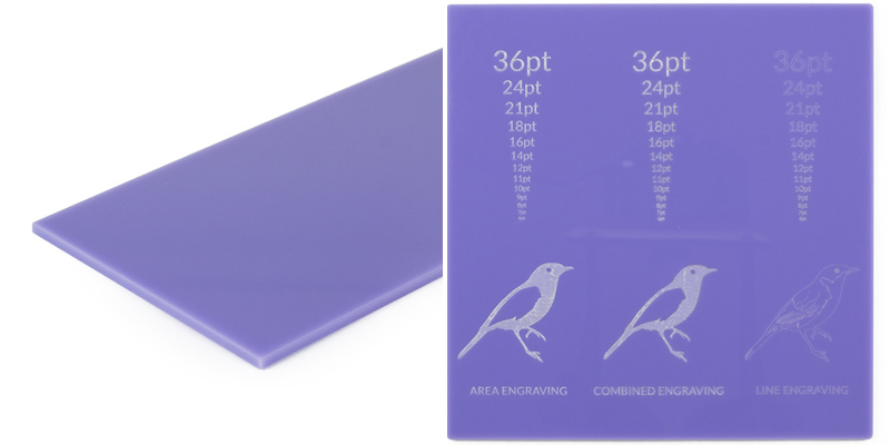 8 Purple Acrylic Sheet