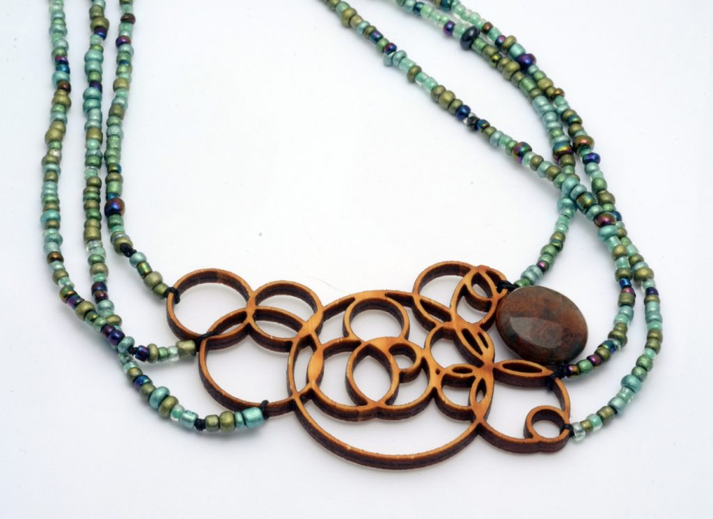 f33a94d2b Melanie Lynn Design 1 - Unique Wooden Jewelry - Beaded Laser Cut Bamboo  With Agate