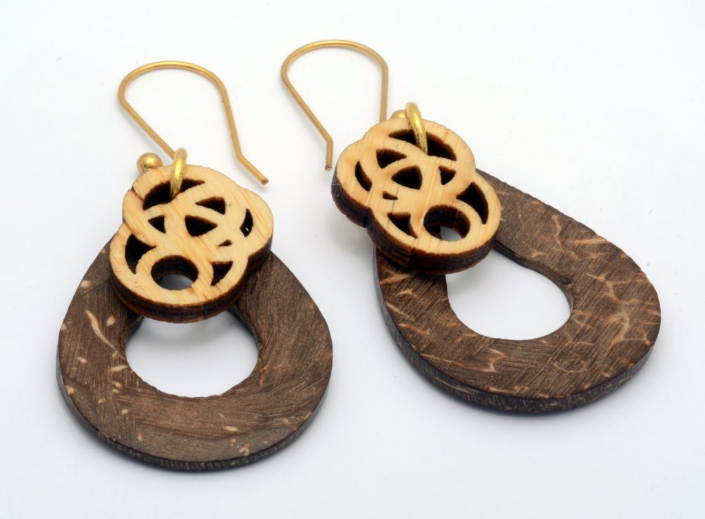 Melanie Lynn Design 3 - Unique Wooden Jewelry - Beaded Laser Cut Bamboo