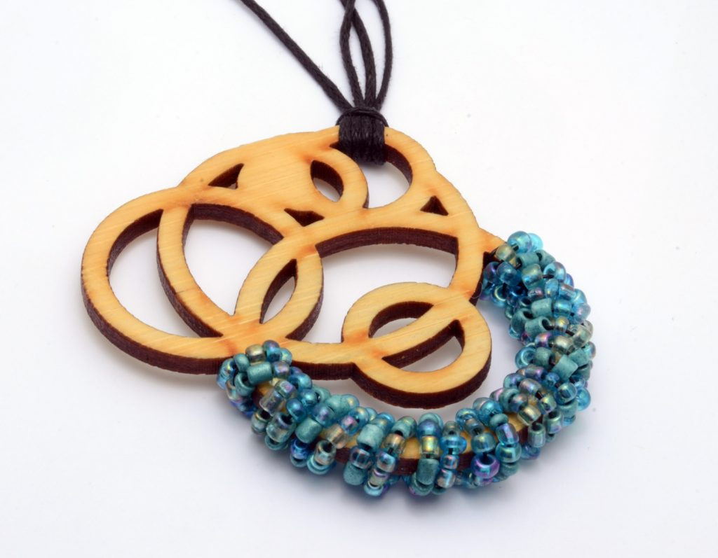 Melanie Lynn Design 4 - Unique Wooden Jewelry - Beaded Laser Cut Bamboo