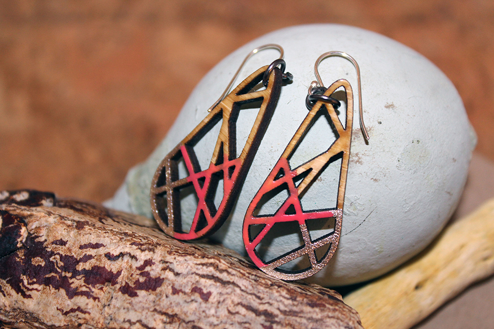 Melanie Lynn Design 6 - Unique Wooden Jewelry - Hand Painted Bamboo