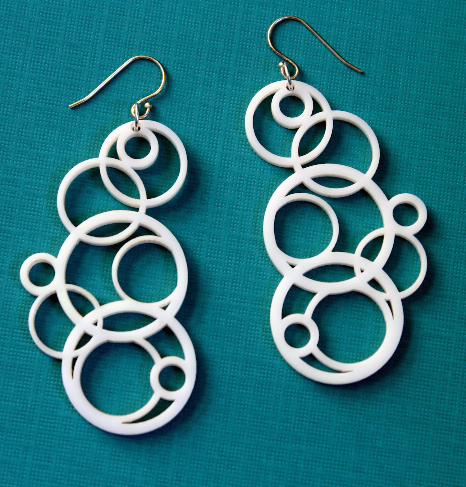 Melanie Lynn Design 7 - Laser Cut Acrylic Jewelry - White Circle