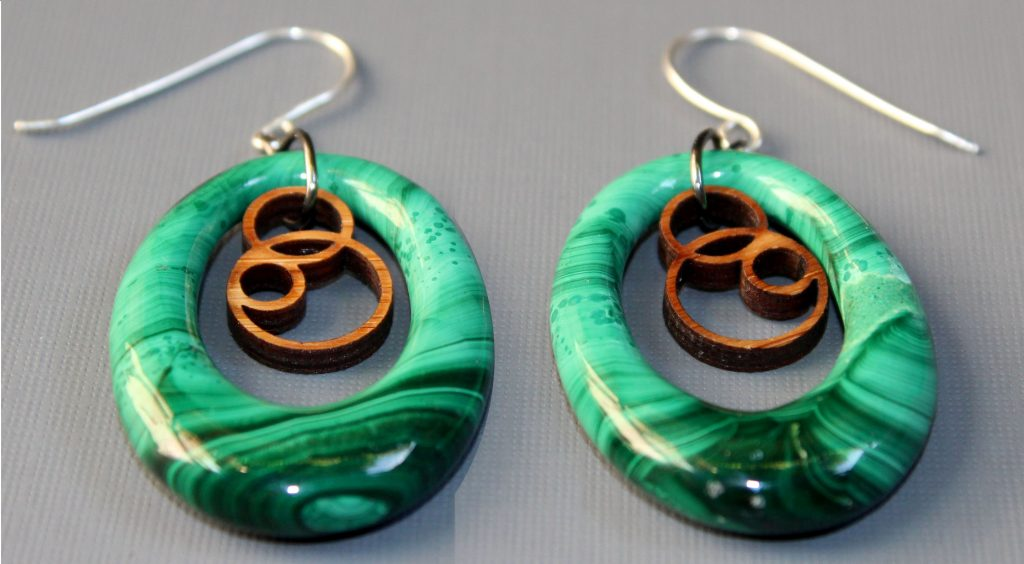 Melanie Lynn Design 8 - Malacite Earrings
