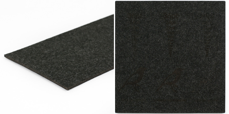 Synthetic Felt 10 - Charcoal Sheet