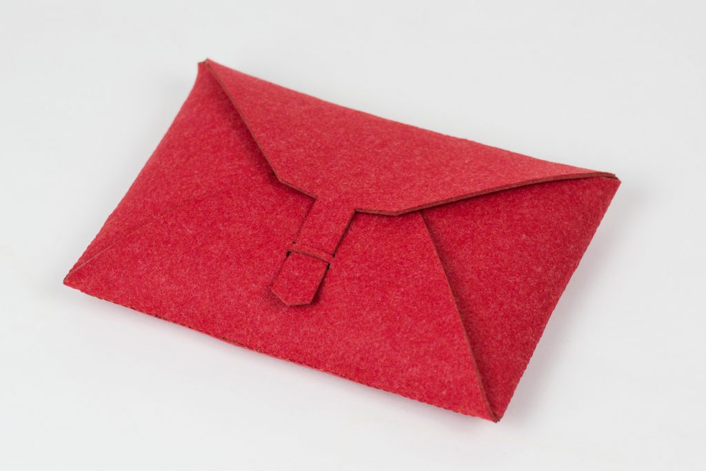 Synthetic Felt 3 - Red Pouch