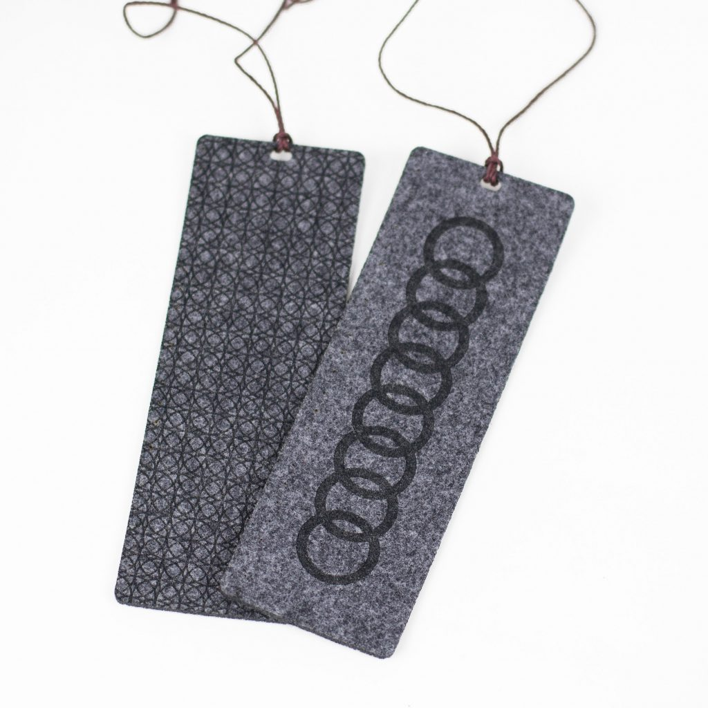 Synthetic Felt 4 - Grey Bookmarks