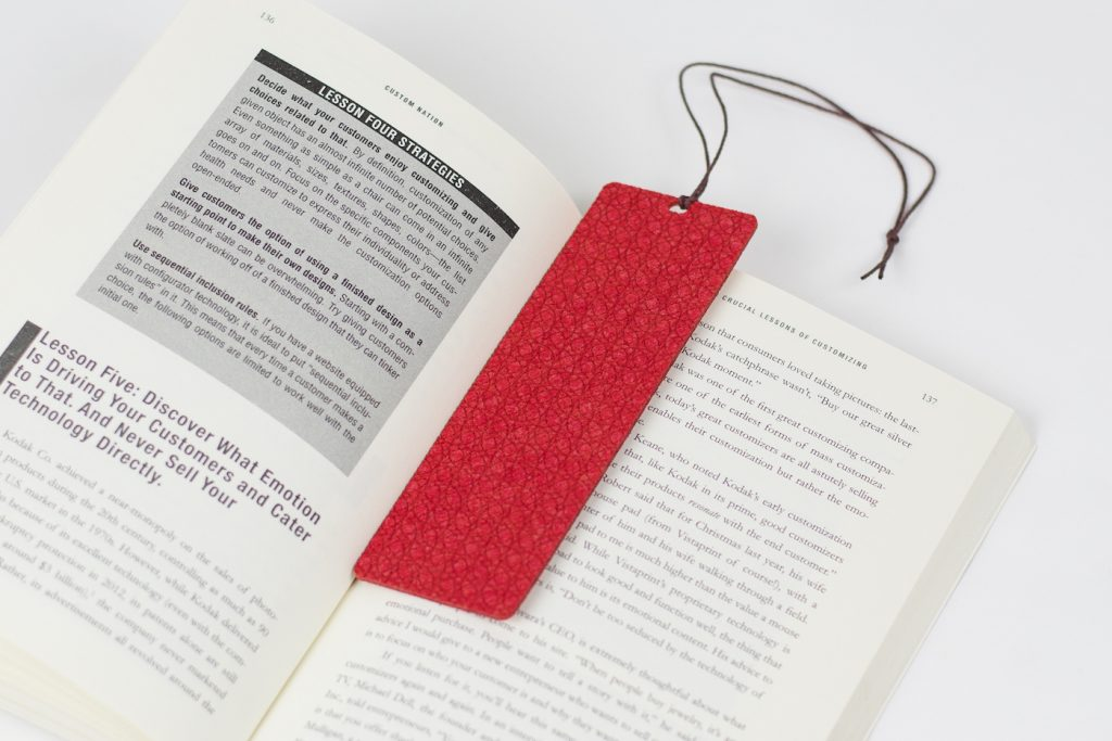 Synthetic Felt 7 - Red Bookmark