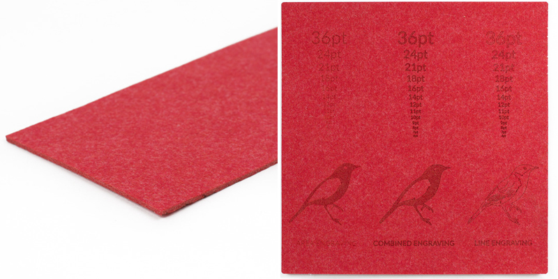 Synthetic Felt 9 - Red Sheet