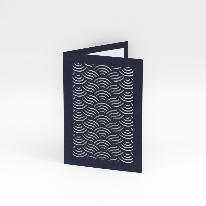 Cardstock Paper 13 - Navy Blue Greeting Card