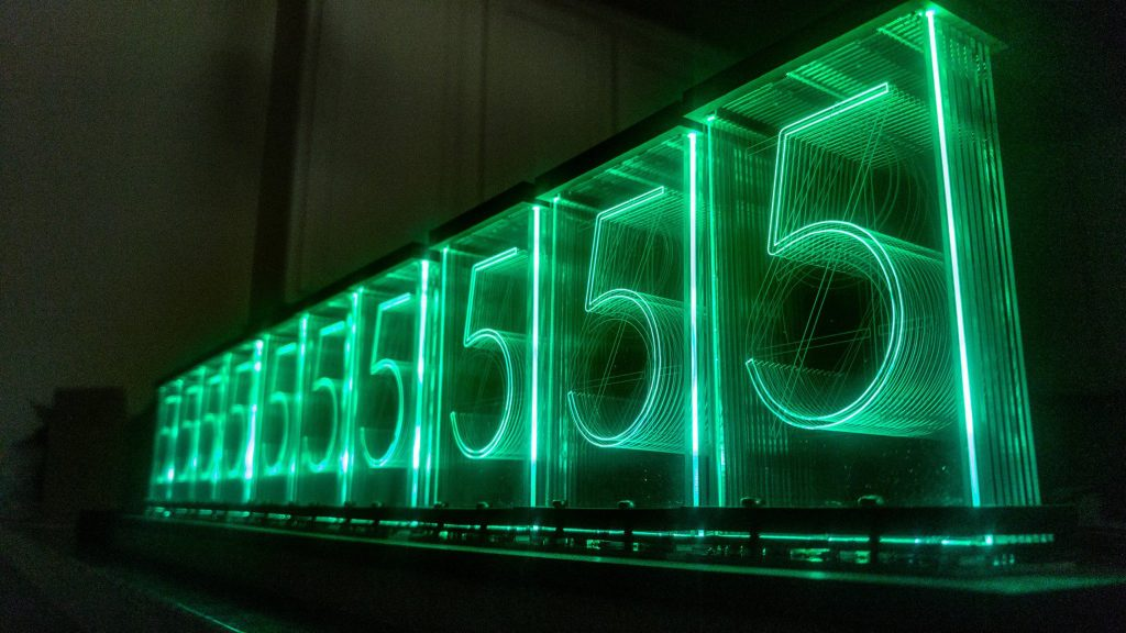 Lixie Labs LED Nixie Clock 4 - Green Numbers
