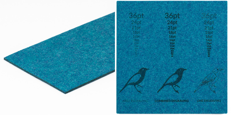 Premium Synthetic Felt 10 - Ocean Blue Sheet