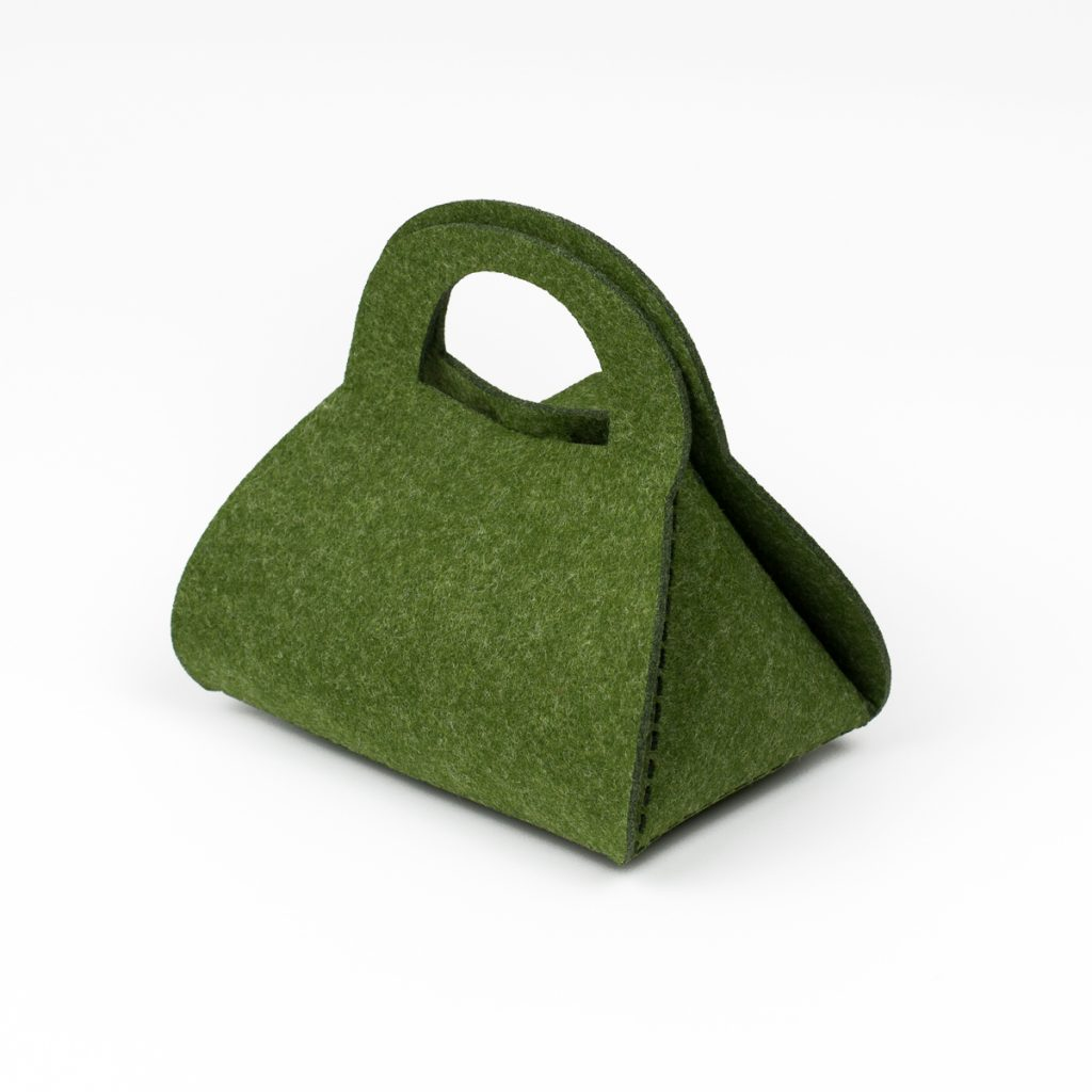 Premium Synthetic Felt 3 - Army Green Purse