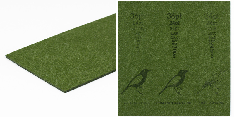 Premium Synthetic Felt 4 - Army Green Sheet