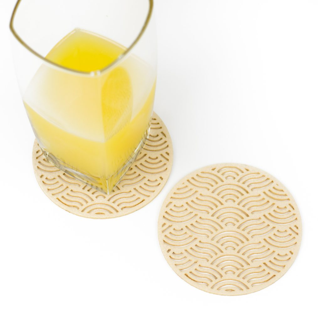 Premium Synthetic Felt 5 - Bone Coasters