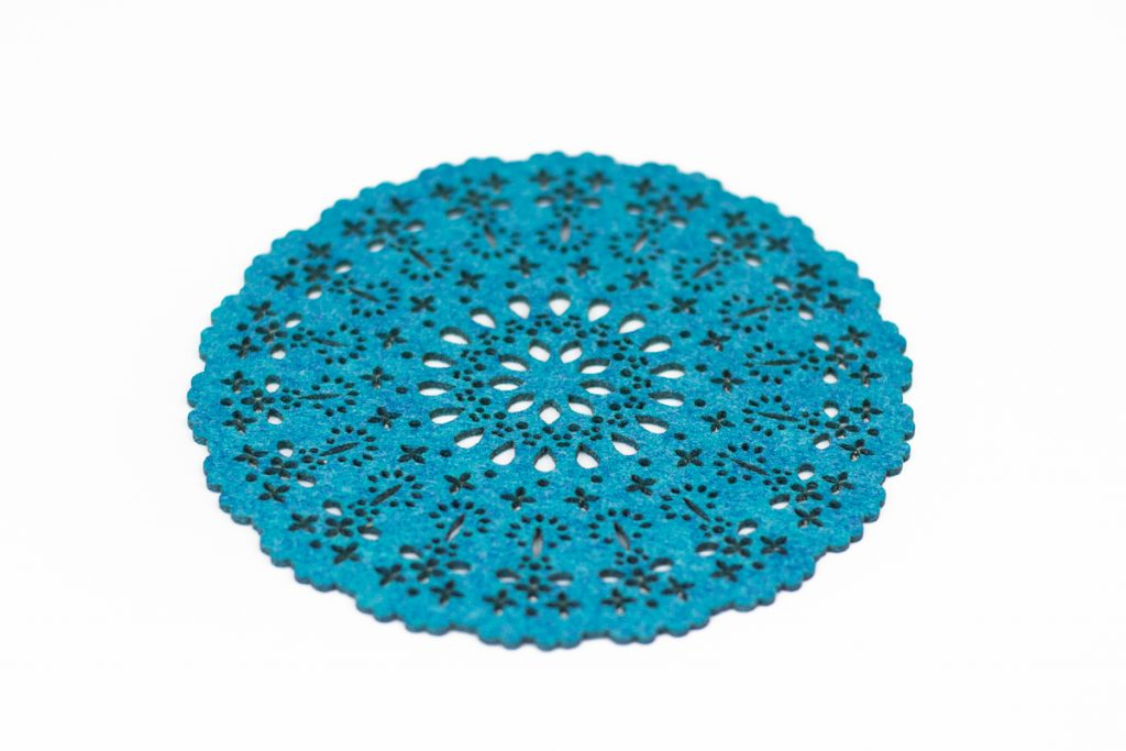 Premium Synthetic Felt 9 - Ocean Blue Coaster
