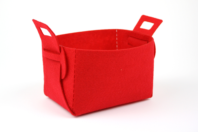Red Synthetic Felt 5 - Bucket