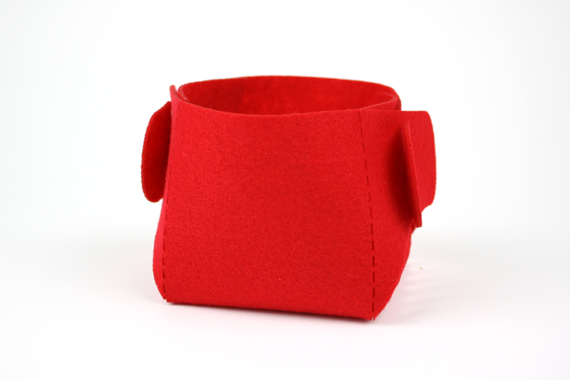 Red Synthetic Felt 6 - Bucket
