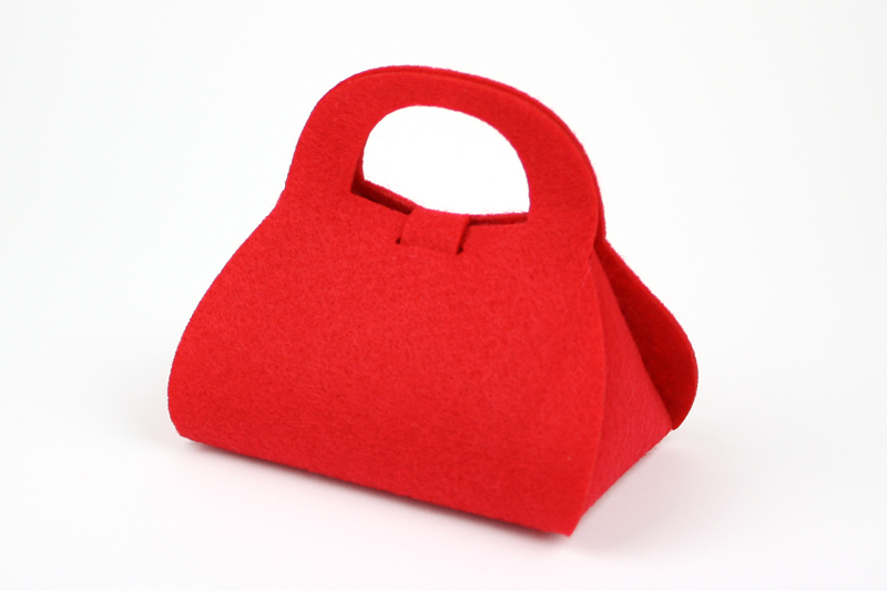 Red Synthetic Felt 7 - Purse