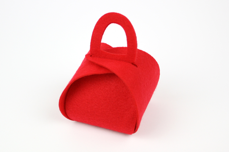Red Synthetic Felt 8 - Gift Bag