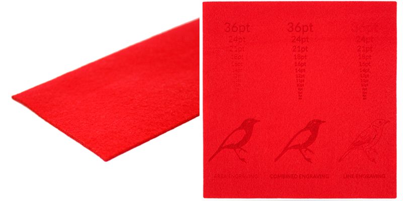 Red Synthetic Felt Sheet
