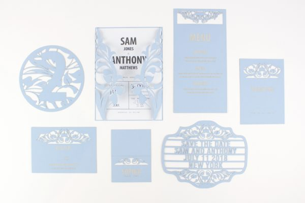 Swallow Blue Cardstock Paper 1 - Wedding Stationary