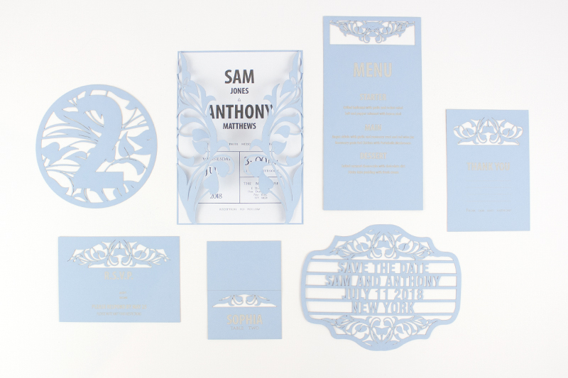 Swallow Blue Cardstock Paper 1 Wedding Stationary