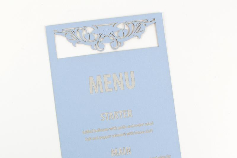 Swallow Blue Cardstock Paper 5 - Wedding Menu