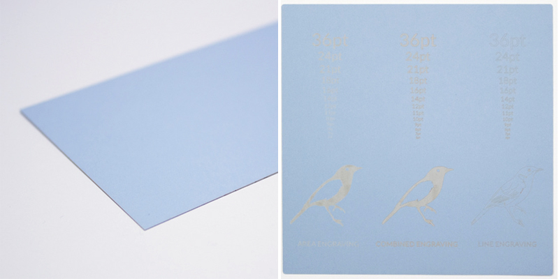 Swallow Blue Cardstock Paper Sheet