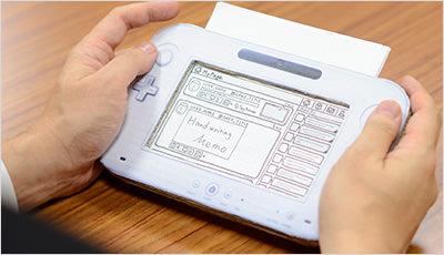 User testing cardboard prototype