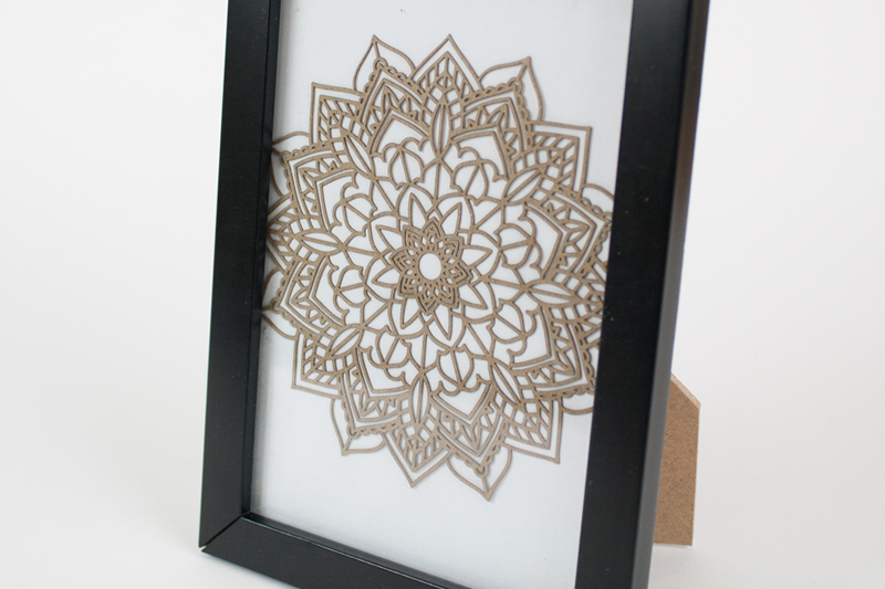 Brown Kraft Cardstock Paper 2 - Geometric Mandala