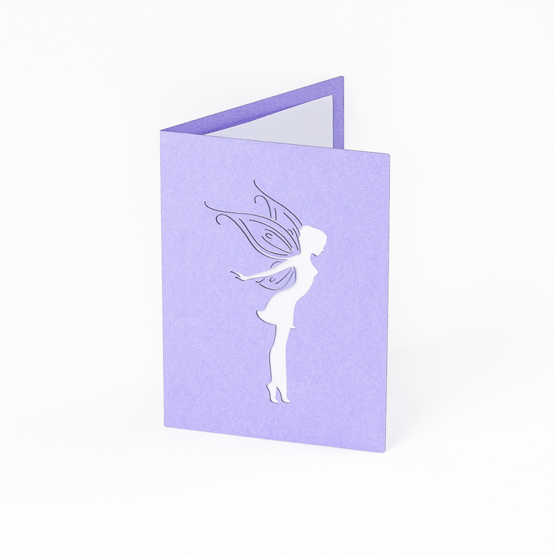 Cardstock Paper 10 - Lilac Fairy Greeting Card