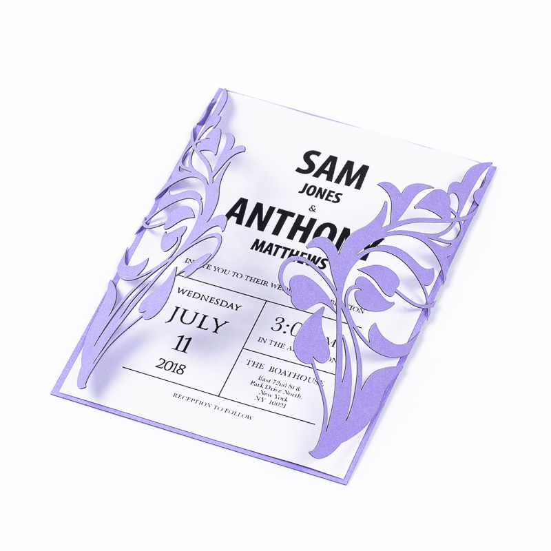 Cardstock Paper 12 - Lilac Wedding Invitation