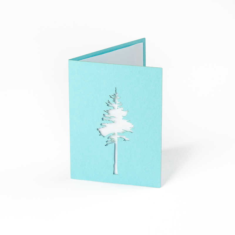 Cardstock Paper 2 - Aqua Tree Greeting Card