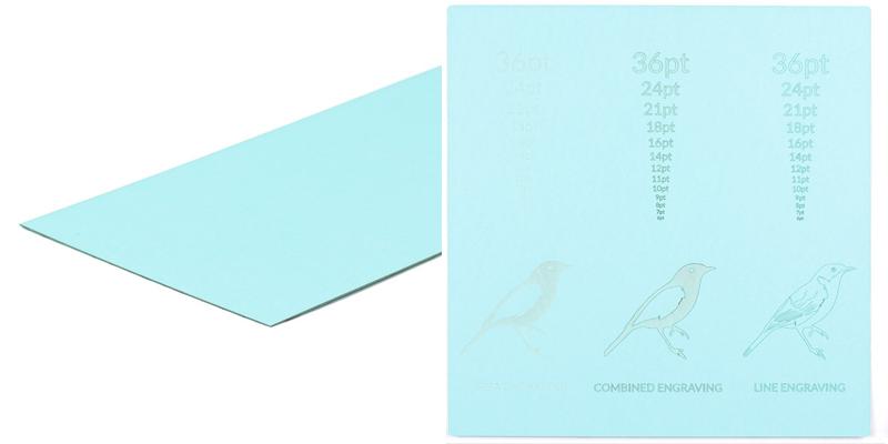 Cardstock Paper 5 - Aqua Sheet