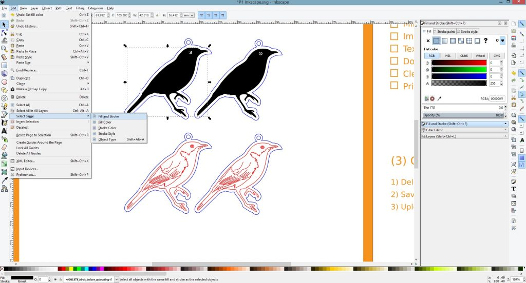 Inkscape Vector Tutorials - Select Same