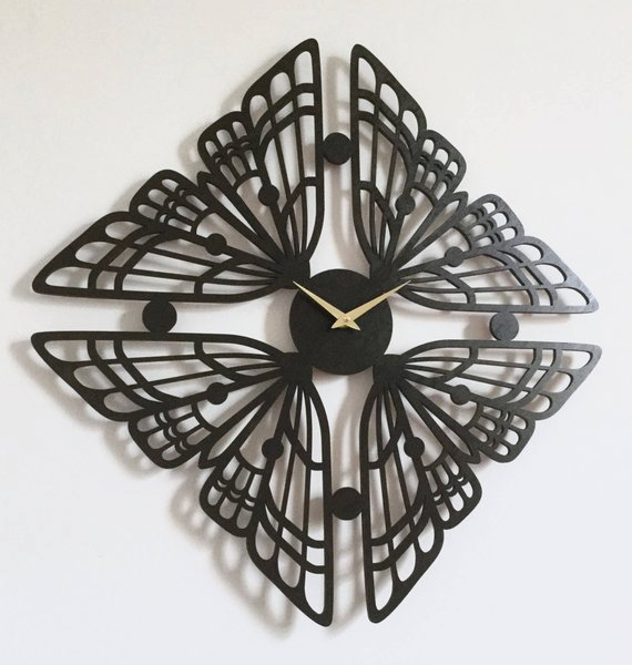Laser Cut Products 01 - Sarah Mimo Moth Clock