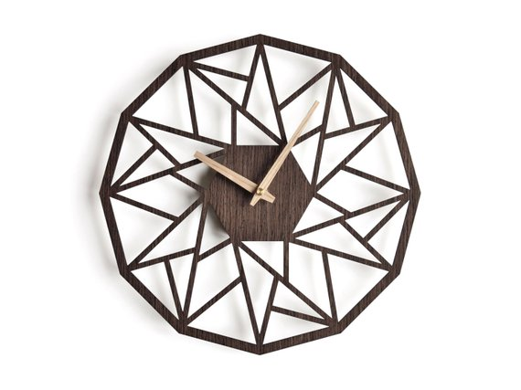 Laser Cut Products 04 - NIUS Dodecagon Clock