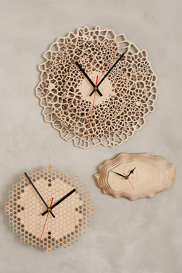 6 baltic birch clocks