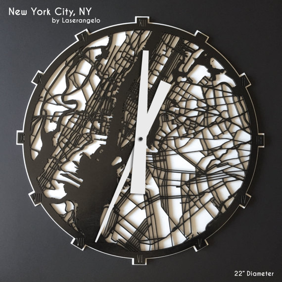 Laser Cut Products 07 - Laserangelo NYC Clock