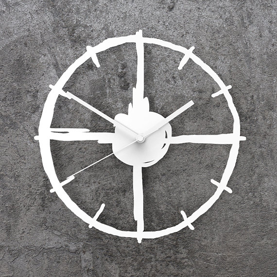 Laser Cut Products 12 - Momendala Target Clock