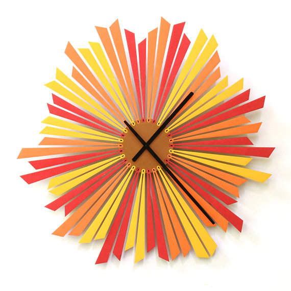 Laser Cut Products 13 - Ardeola Setting Sun Clock