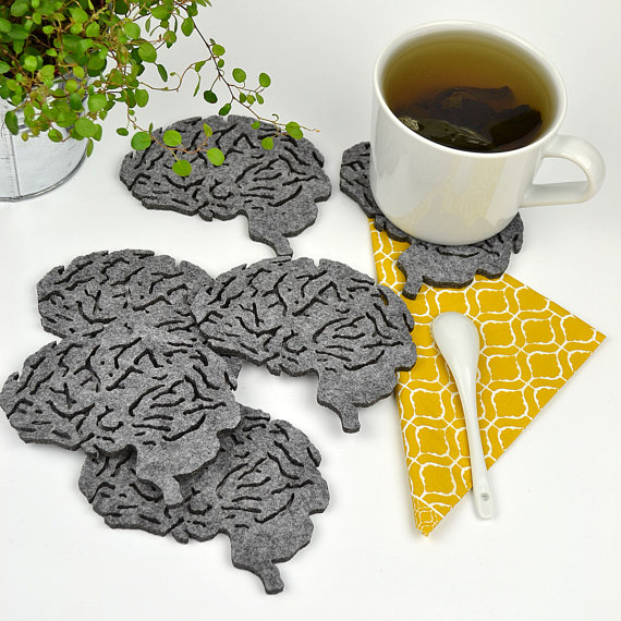 Laser Cut Products 24 - FeltLabel Brain Coasters
