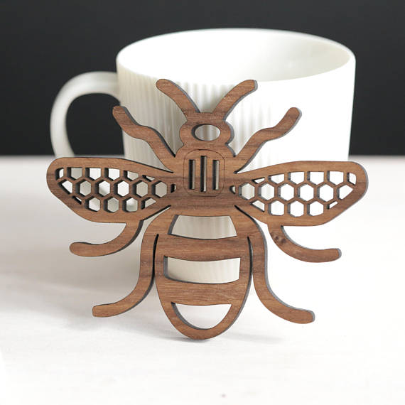 Laser Cut Products 26 - Jessica6Designs Bee Coasters