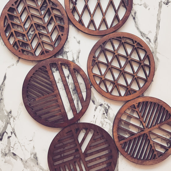 Laser Cut Products 29 - Sawmillplace Geometric Coasters