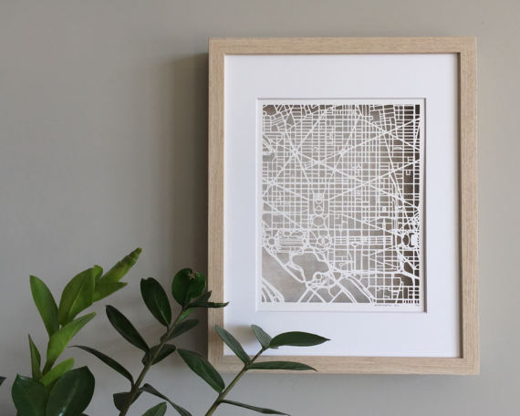 Laser Cut Products 33 - MoniqueHarby Map Art