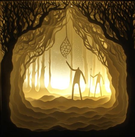 35 illuminated shadowbox art