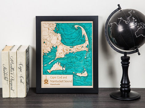 Laser Cut Products 40 - Lake Map Art