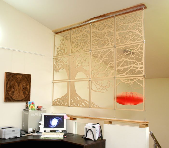 Laser Cut Products 41 -Potato Press Hanging Mosaic Screen
