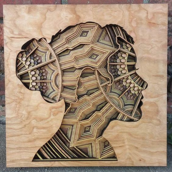 Laser Cut Products 44 - Gabriel Schama Portrait Wood Relief Art
