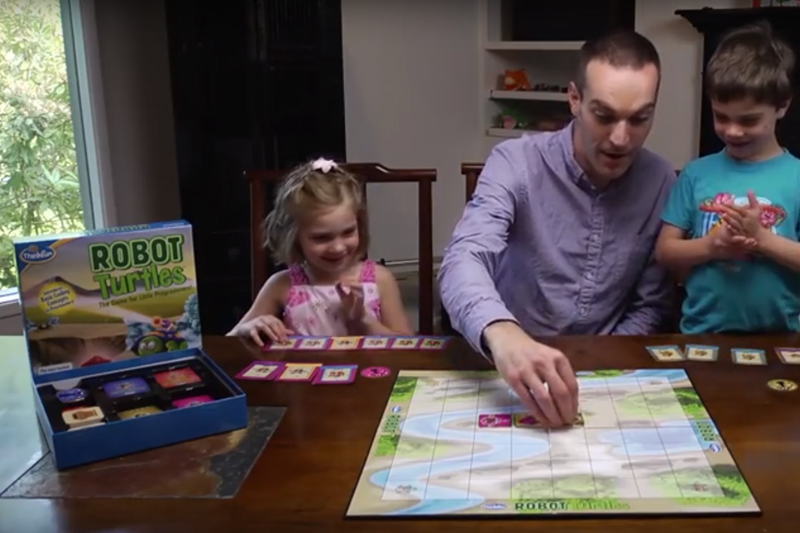 Robot Turtles Board Game Playing